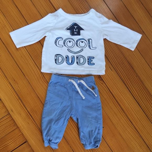 """d4a1fbfde456 GAP Other - Baby Gap 2 Piece """"Cool Dude"""" Set 3-6 Months"""